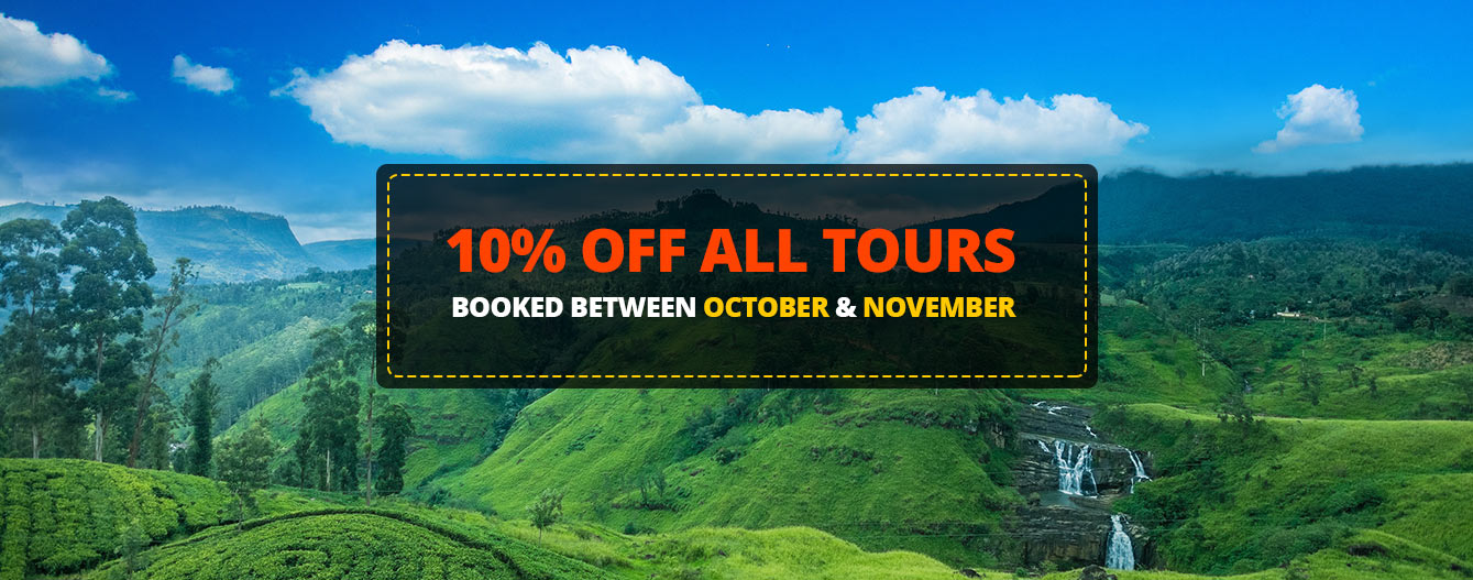 10% off all tours - To qualify book between October and November 2017